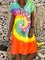 Fashion New Tie-Dye V Neck Dresses