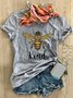 Bee Kind Printed Short Sleeve Round Neck Casual T-shirt
